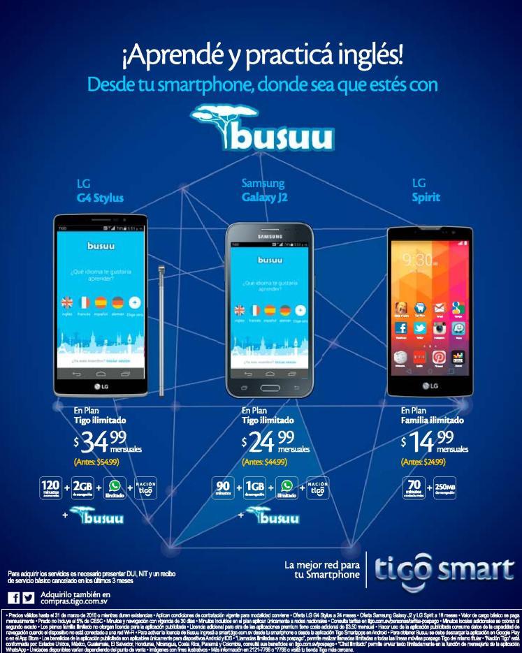 Mas ventajas de tus smartphone de TIGO el salvador