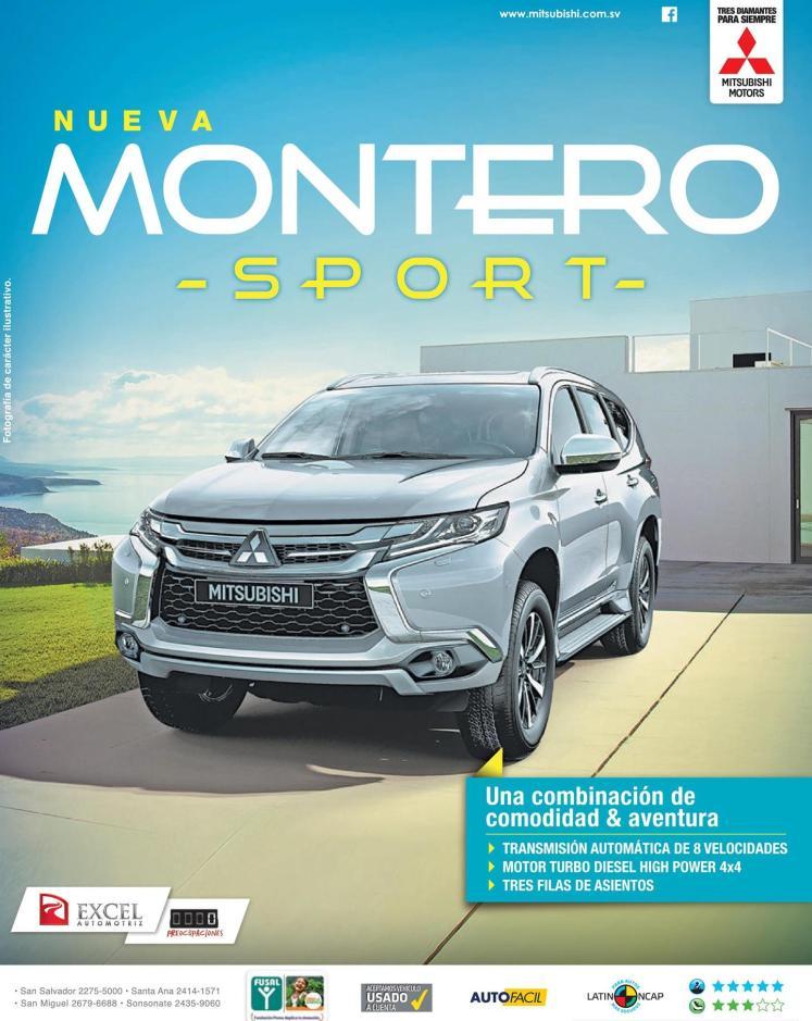New MONTERO sport mitsubishi VENTA de autos excel automotriz el salvador