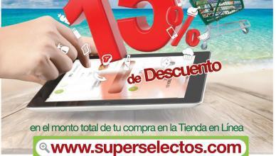 SOLO HOY 15 off n tus compras online super selectos el salvador - 19mar16