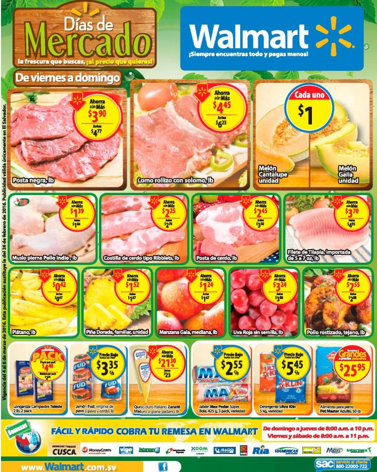 WALMART compras de mercados en este fin de semana - 05mar16