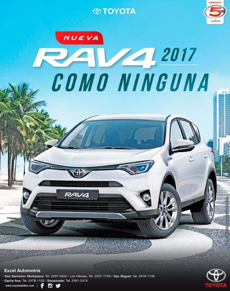 new TOYOTA Rav4 2017 auto el salvador
