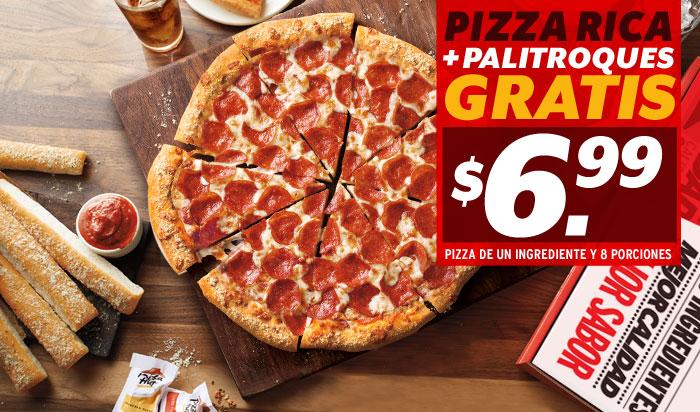 promociones para llevar pizzarica palitroques