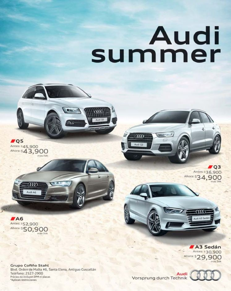 Audi summer car deals SEDAN A3 A5 A6 Q5