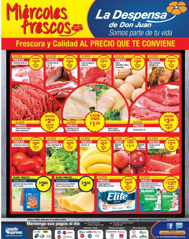 Descubre las ofertas de los miercoles frescos DESPENSA de Don Juan - 27abr16
