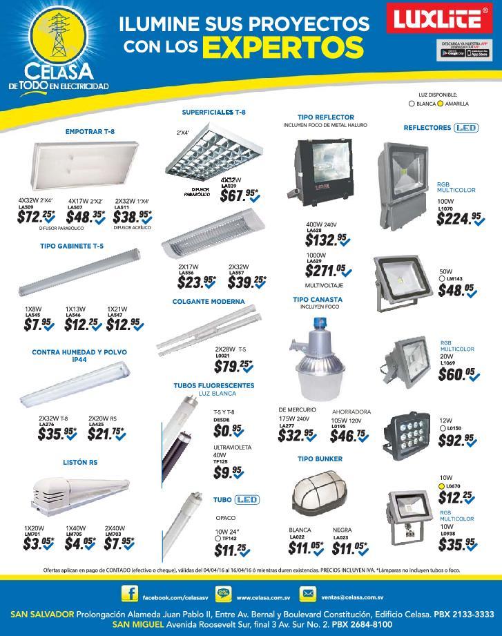 Expertos en productos de iluminacion y lamparas LED el salvador