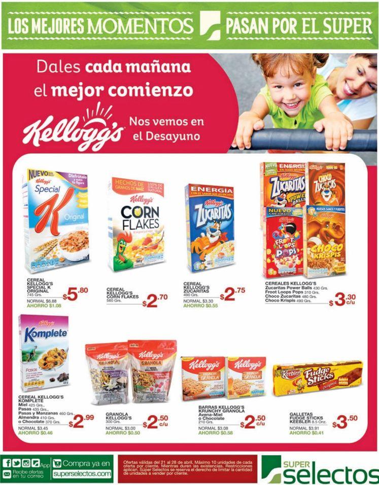 Kelloggs cereales para tu desayuno nutritivo y completo
