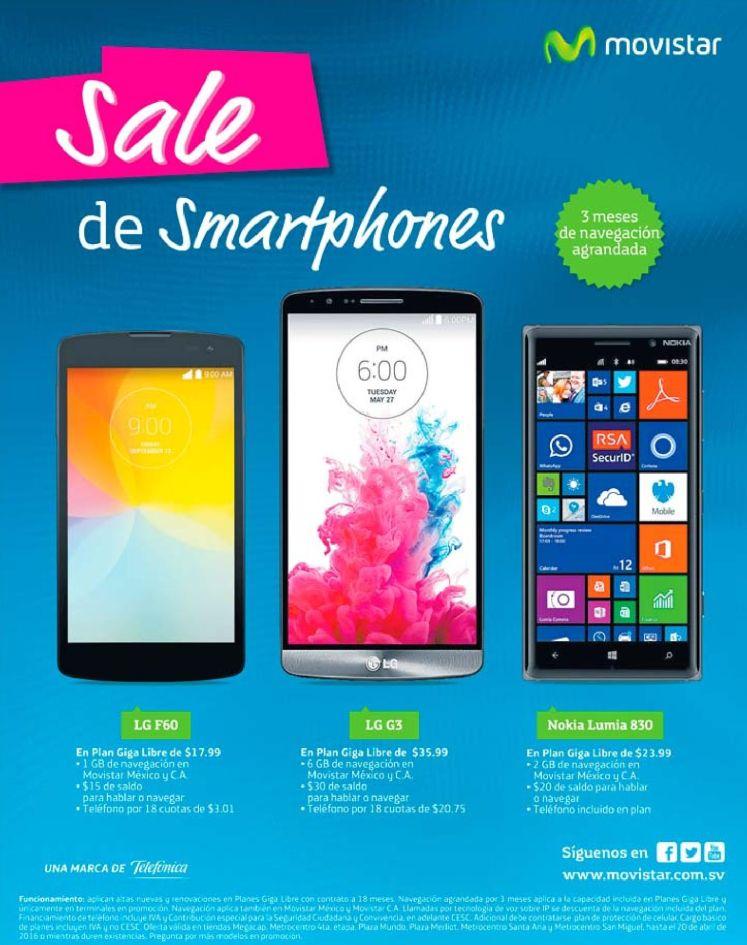 Movistar el salvador SALE de smartphones llenos de internet y social media