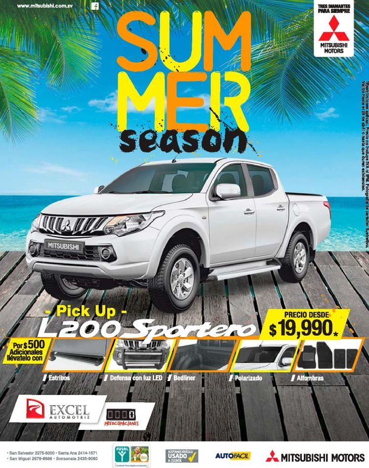 PICK UP L200 deals by mitsubishi motors el salvador