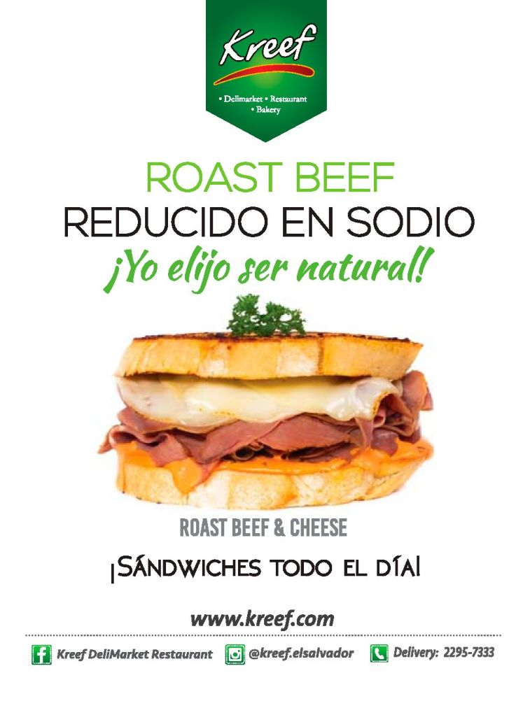 Roast Beef and cheese delicatesen KREEF sandwiches