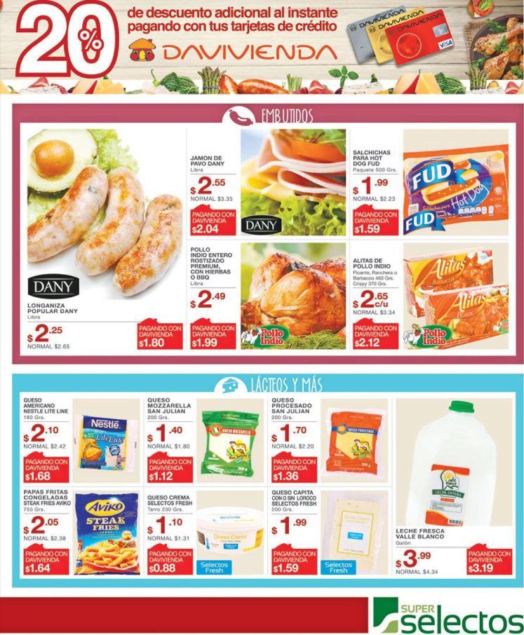 Salchicas Chorizos Alitas empanizadas EMBUTIDOS ofertas del super selectos - 27abr16