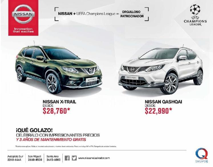new NISSAN car XTRAIL and QASHQAI