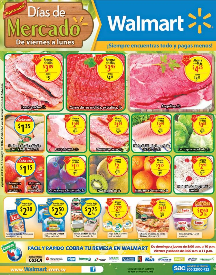Aprovechando las ofertas de FINDE mercado WALMART - 13may16