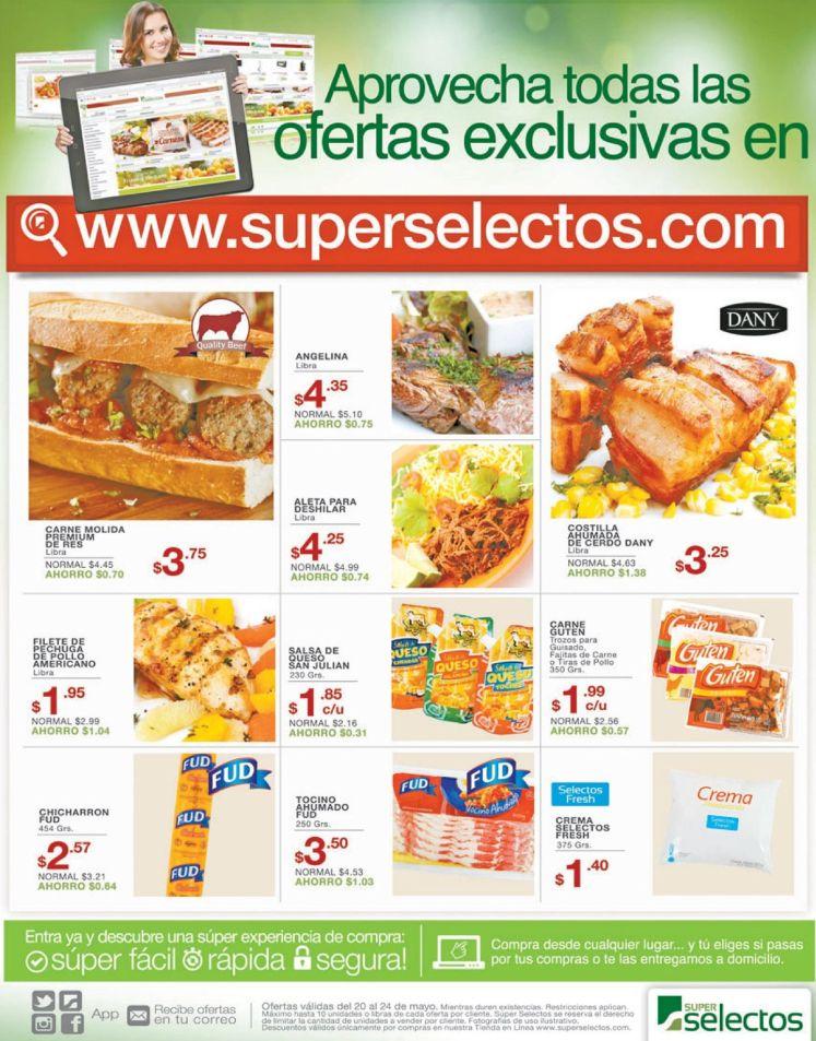 Comprar online te sale mas barato con Super Selectos - 20may16