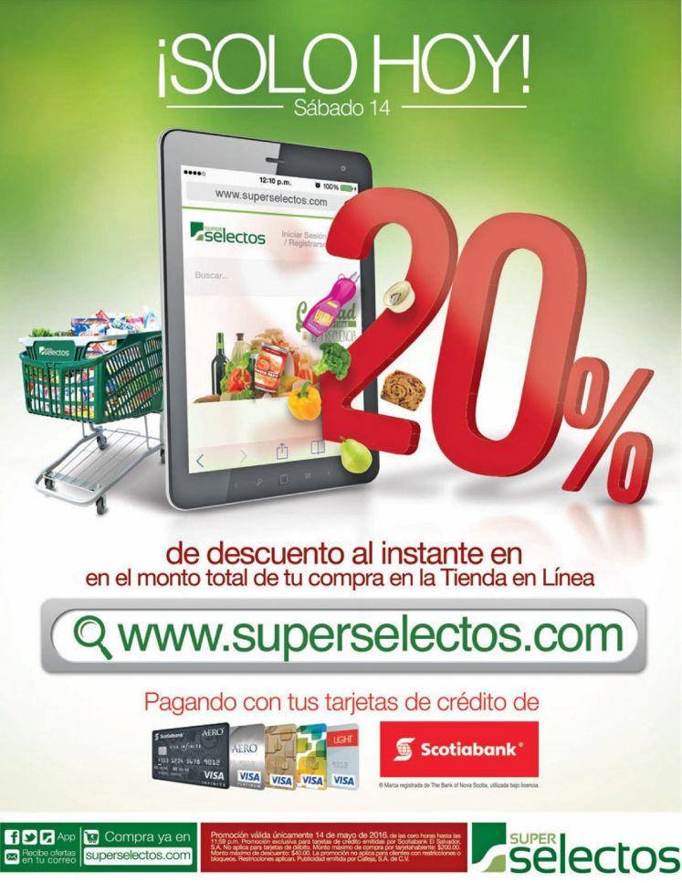 Dia de compras online en super selectos 20 off
