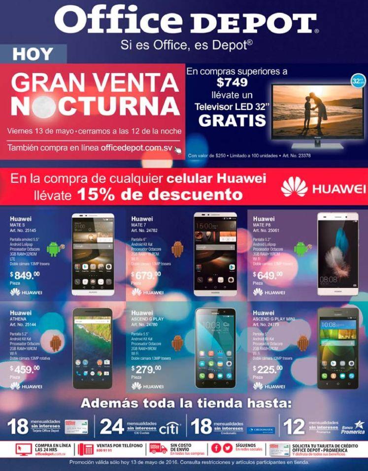 Encuentra tu smartphone nuevo en la gran venta noctura OFFICE DEPOT - 13may16