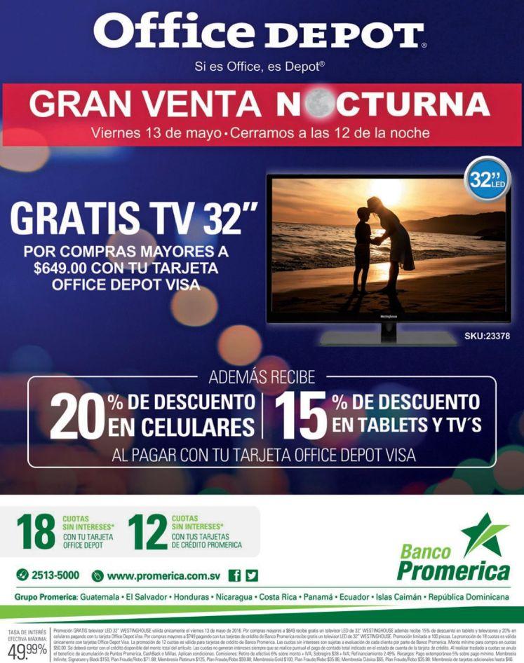 GRATIS tv por tus compras ahora en la gran venta nocturna