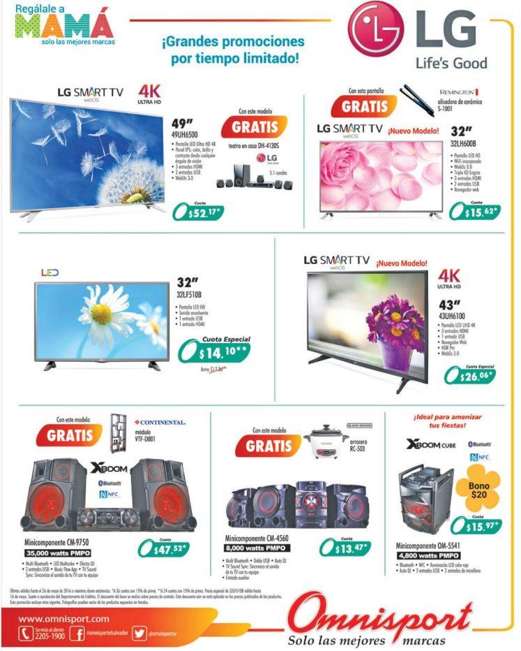 Mira los precios de televisores LED LG