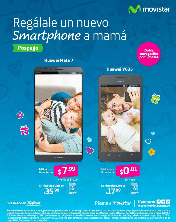 SMARTPHONE nuevo para mama gracias a MOVISTAR promociones