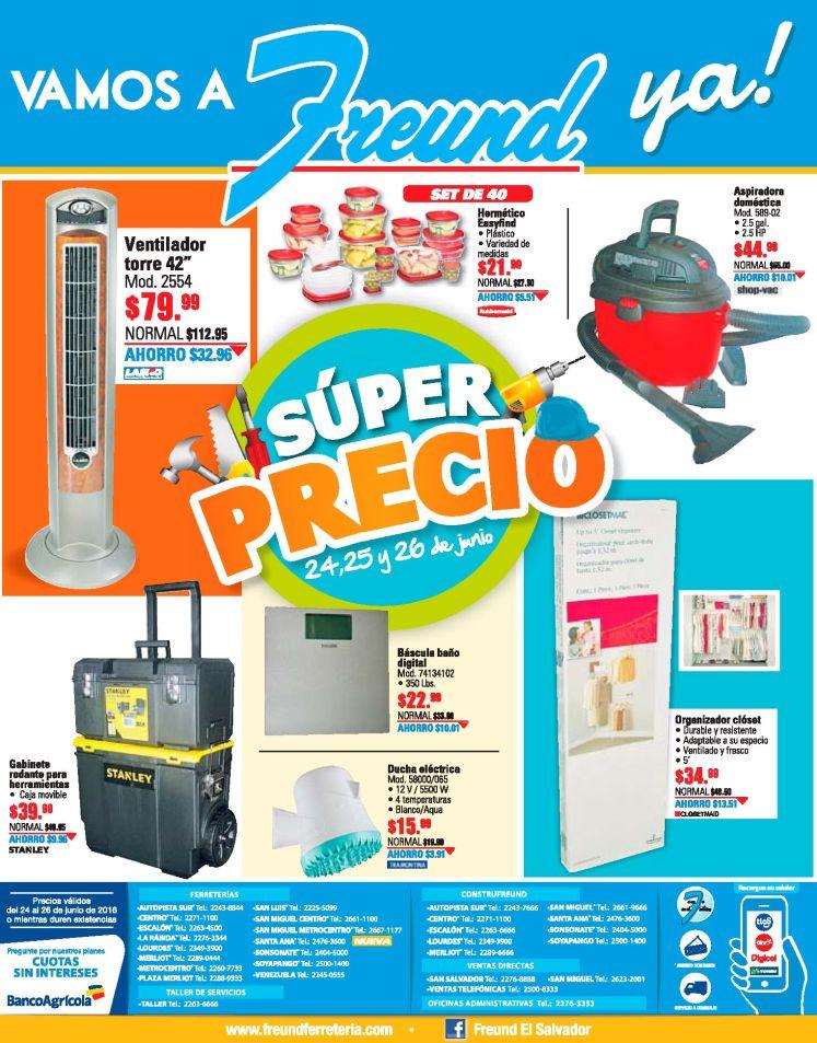 Atencion super precio en el finde con FREUND ferreterias - 24jun16