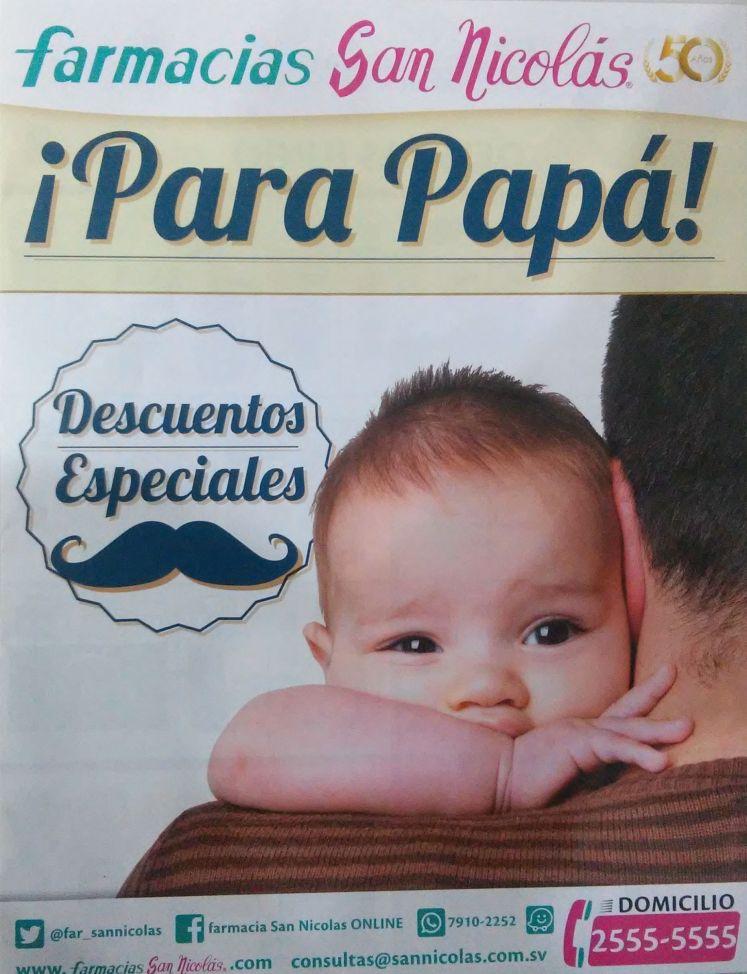 Farmacias San Nicolas ofertas para papa 2016