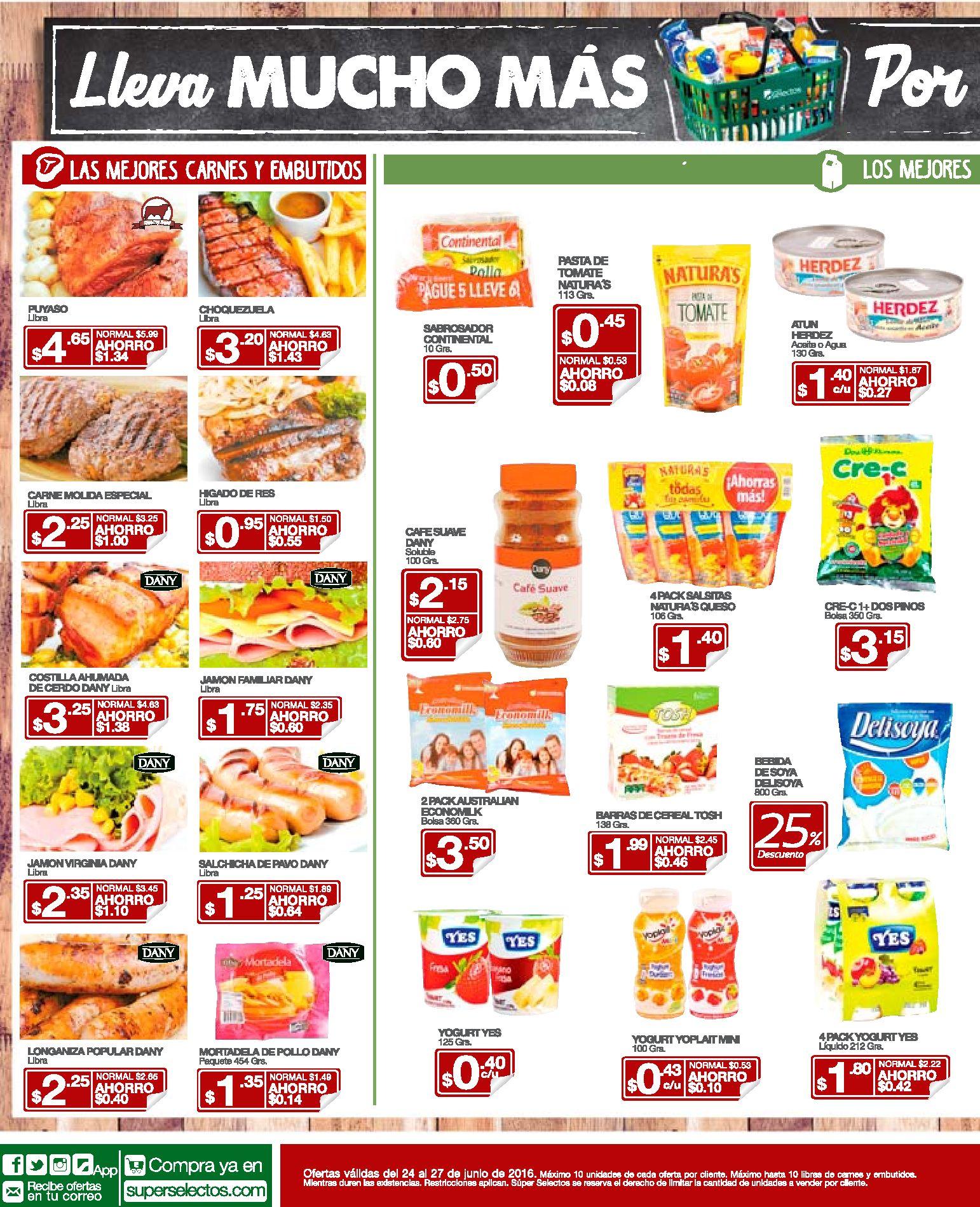 Lacteaos carnes y embutidos al buen precio - 24jun16