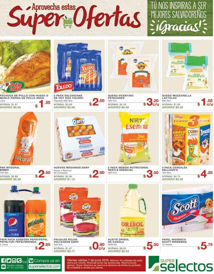 Los productos mas buscados del Super Selectos - 01jun16