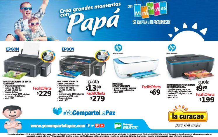 Ofertas en impresores HP y EPSON en mes del padre 2016