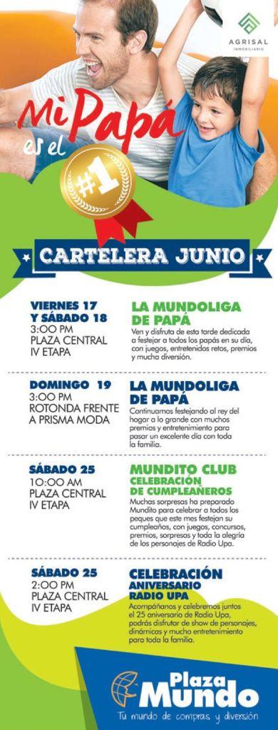 PLAZA MUNDO Eventos para celebra el dia del padre 2016