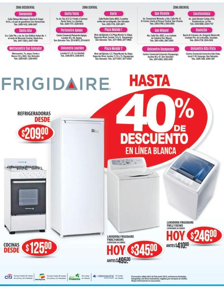 WAY Electrodomesticos frigidaire hasta 40 OFF de descuento