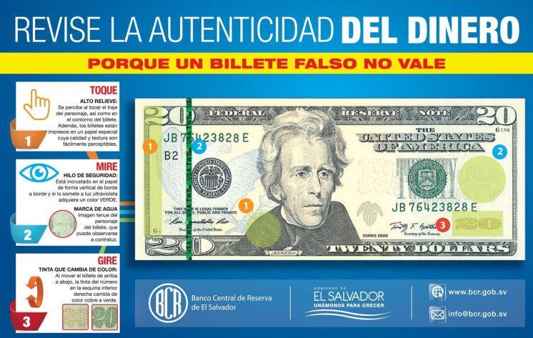 Como saber si un billete de dollar es falso