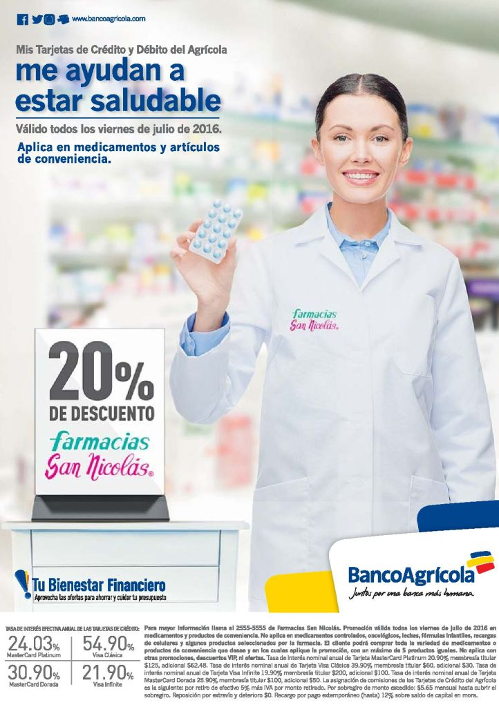 Compra con 20 off tus prodcutos de conveniencia en Farmacia SAN NICOLAS