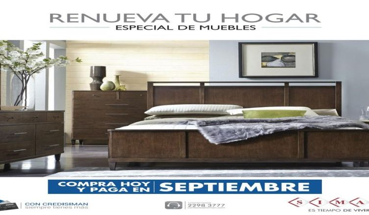 Especial de muebles siman compra hoy paga en septiembre for Compra de muebles