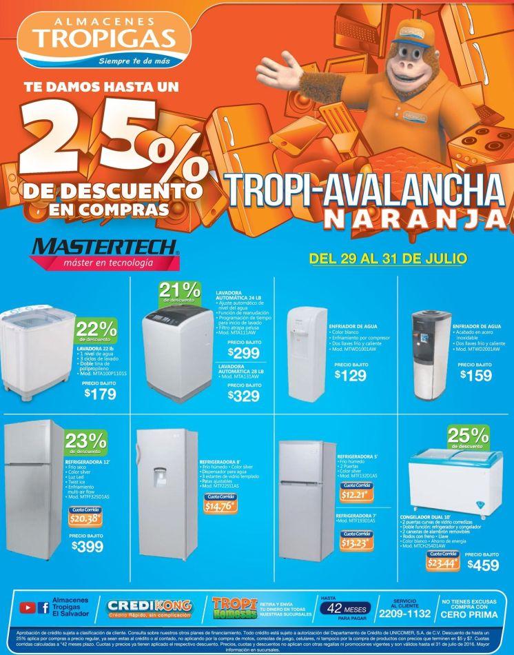 MASTERTECH appliances credit and discount TROPIGAS el salvador