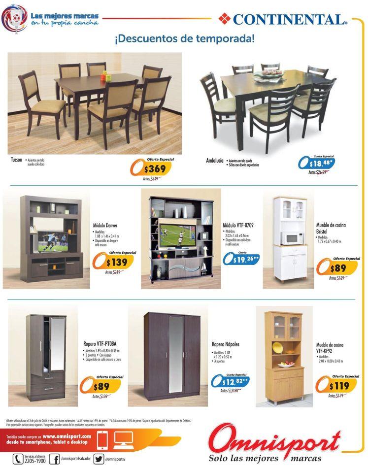 Muebles de sala cocina comedos omnisport promociones julio for Productos cocina online