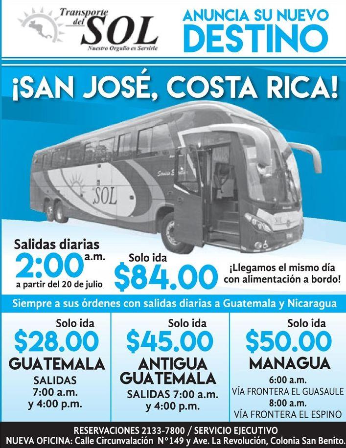 Precios de boletos para viajar a centroamerica en BUS
