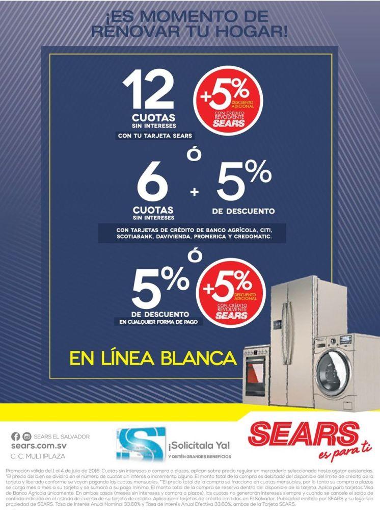 oportunidad de renovar tu hogar con SEARS appliances