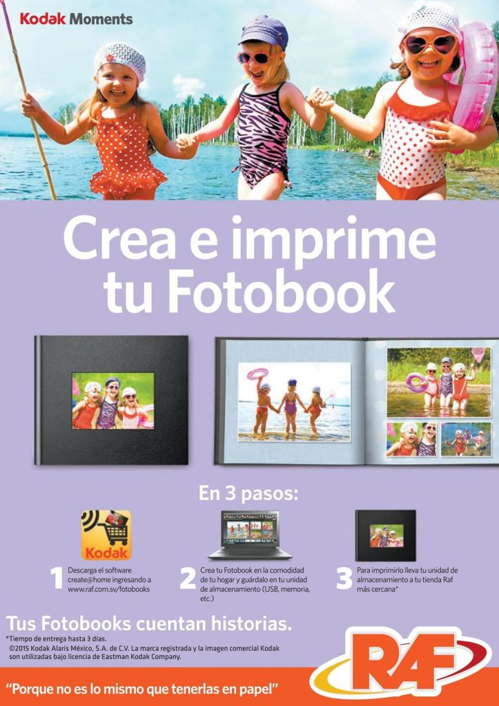 Como imprimir tus fotos familiar en en photo book RAF