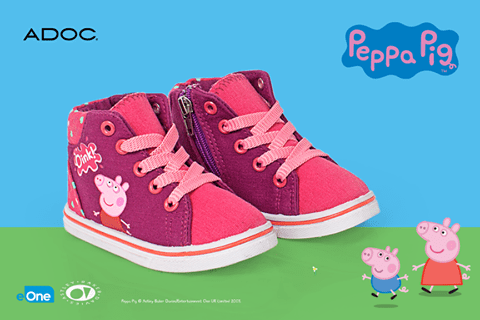 funny shoes for her peppa pig pink shoes