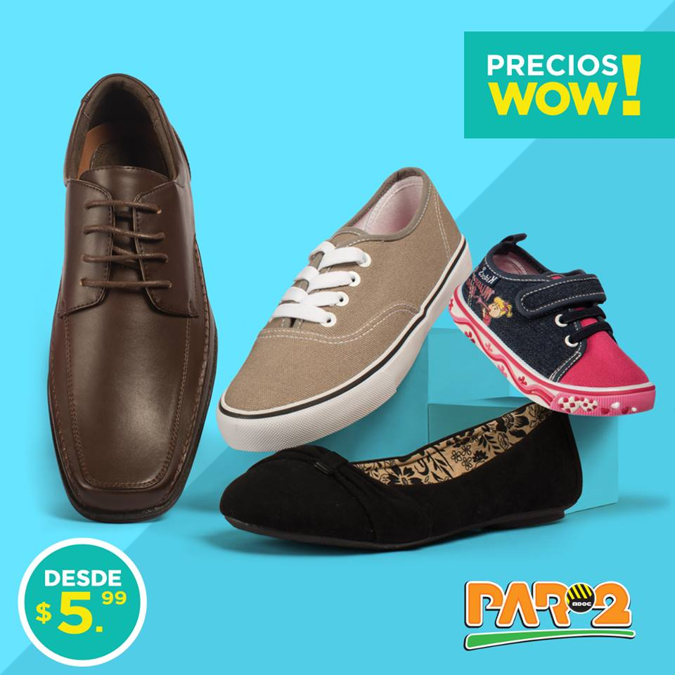 Semana de PRECIOS WOW en calzado PAR2 (Septiembre 2016)