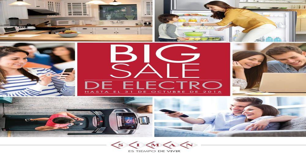 Catalogo BIG SALE ELECTRO ofertas SIMAN sv (Octubre 2016)