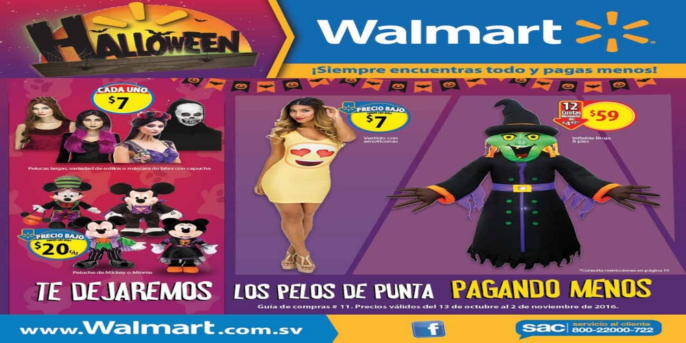Guia de Compras HALLOWEEN 2016 de Tiendas WALMART