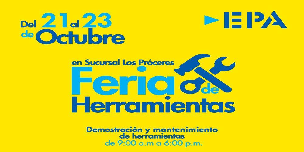 Todo con DESCUENTO en EPA Feria de Herramientas, Pinturas y mas (21-oct-16)