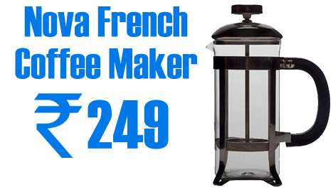 Get Nova French Coffee Maker at just Rs.249 from Dealsandyou discount 2