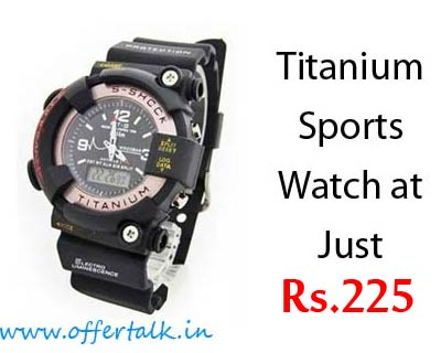 Titanium Dual Time Sport Watch at Just Rs.225 Only discount 2