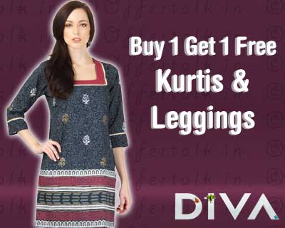 Buy 1 Get 1 Free on Diva Kurtis & Leggings Starts at Rs.399   Myntra womens apparel