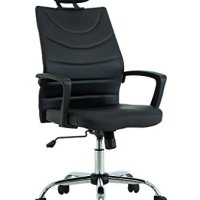 VIVA OFFICE Latest Modern High Back Bonded Leather Chair, Ergonomic Task Chair with Adjustable Headrest - Viva1508F8