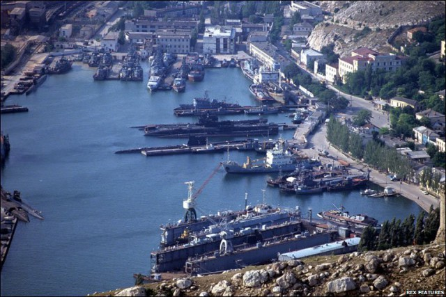 Sevastopol - home of the Russian Black Sea Fleet. The headquarters of both the Ukrainian Naval Forces and Russia's Black Sea Fleet are located in the city.
