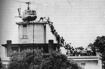 Evacuation of CIA station personnel and Vietnamese citizens from Saigon, April 29, 1975 (Source: Wikimedia Commons).
