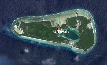 Climate change is of a concern in Tuvalu since the average height of the atolls is less than 2 metres above sea level. Tuvalu could be one of the first nations to experience the effects of sea level rise. Not only could parts of the island be flooded but the rising saltwater table could also destroy deep rooted food crops.