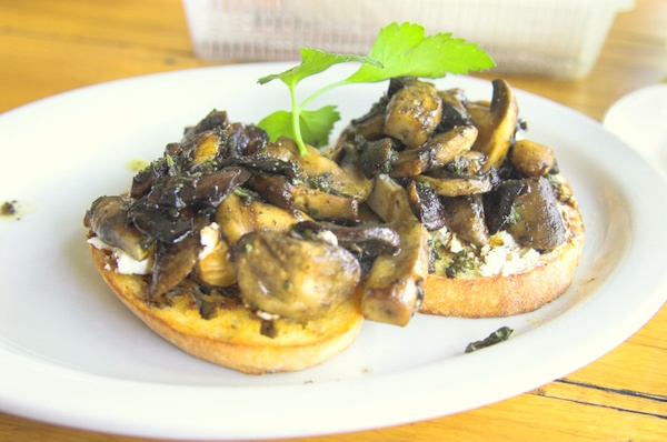 Cafe Plum mushrooms